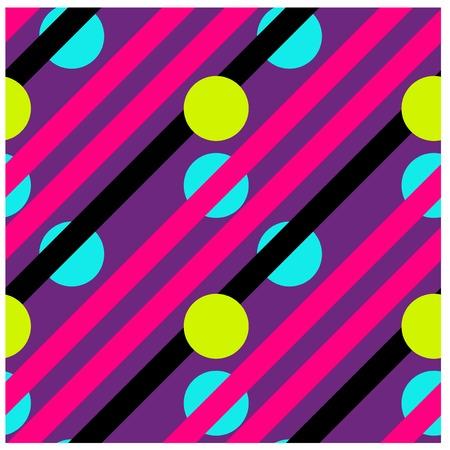 Lines and hidden circles seamless pattern. Illusztráció