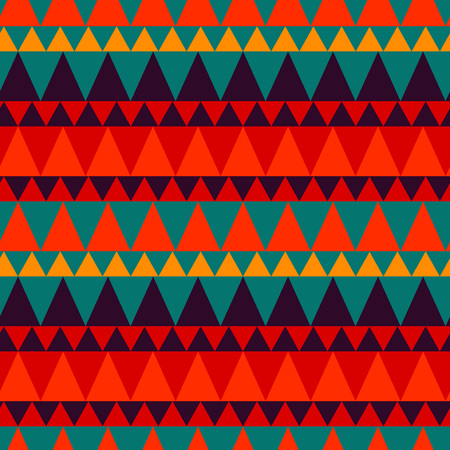Triangular forest mountain seamless pattern. For print, fashion design, wrapping, wallpaper Illustration