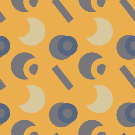 Basic vivid shapes seamless pattern. For print, fashion design, wrapping, wallpaper Illustration
