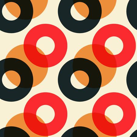 색 서클 원활한 패턴을 오버레이합니다. 인쇄, 패션 디자인, 포장, 벽지 스톡 콘텐츠 - 92530355
