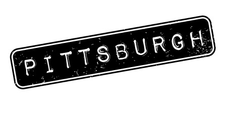 Pittsburgh rubber stamp. Grunge design with dust scratches. Effects can be easily removed for a clean, crisp look. Color is easily changed. 向量圖像