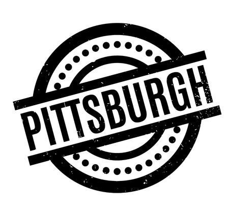 Pittsburgh rubber stamp. Grunge design with dust scratches. Effects can be easily removed for a clean, crisp look. Color is easily changed. Illustration