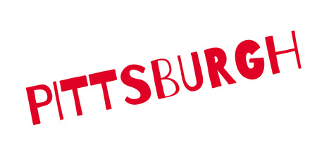 Pittsburgh rubber stamp. Grunge design with dust scratches. Effects can be easily removed for a clean, crisp look. Color is easily changed.  イラスト・ベクター素材