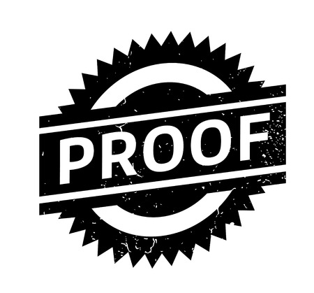 Proof rubber stamp. Grunge design with dust scratches. Effects can be easily removed for a clean, crisp look. Color is easily changed.