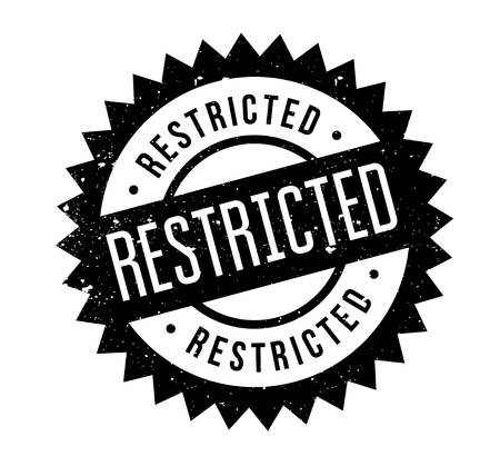 Restricted rubber stamp. Grunge design with dust scratches. Effects can be easily removed for a clean, crisp look. Color is easily changed. Illustration