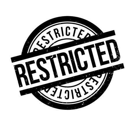 Restricted rubber stamp. Grunge design with dust scratches. Effects can be easily removed for a clean, crisp look. Color is easily changed.