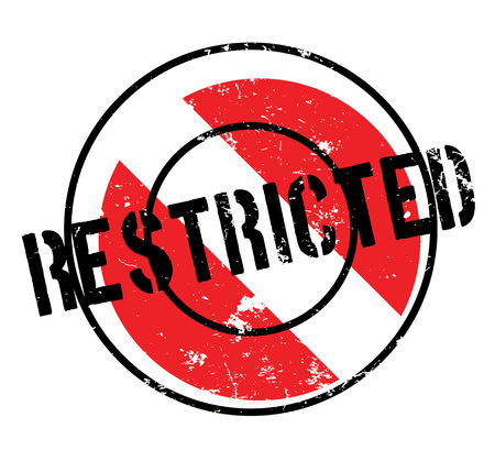 Restricted rubber stamp. Grunge design with dust scratches. Effects can be easily removed for a clean, crisp look. Color is easily changed. Ilustrace