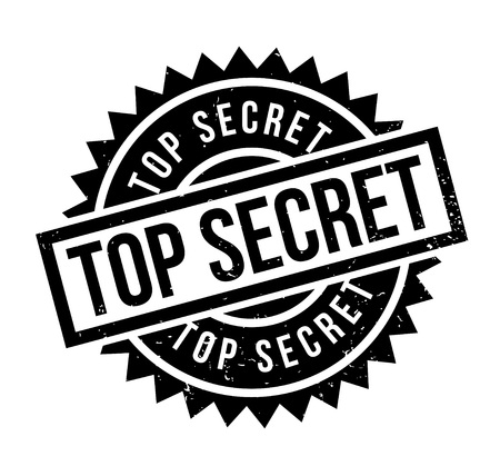 Top Secret rubber stamp. Grunge design with dust scratches. Effects can be easily removed for a clean, crisp look. Color is easily changed. Stock Illustratie