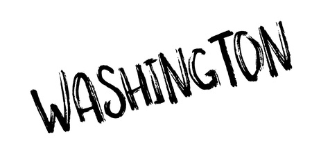 Washington rubber stamp. Grunge design with dust scratches. Effects can be easily removed for a clean, crisp look. Color is easily changed. Vettoriali