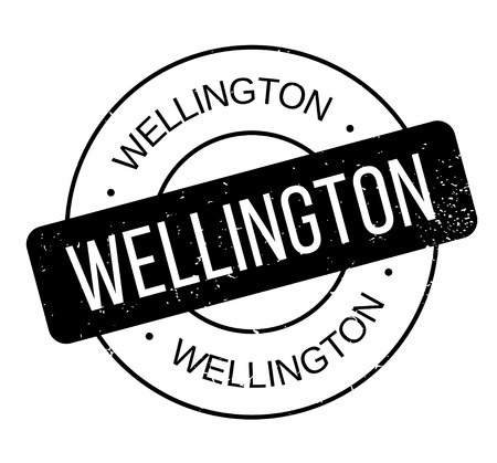 Wellington rubber stamp. Grunge design with dust scratches. Effects can be easily removed for a clean, crisp look. Color is easily changed. Ilustração