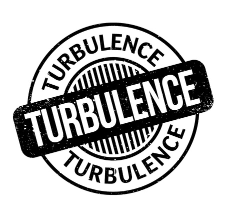 Turbulence rubber stamp. Grunge design with dust scratches. Effects can be easily removed for a clean, crisp look. Color is easily changed.