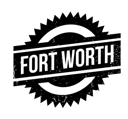 Fort Worth rubber stamp. Grunge design with dust scratches. Effects can be easily removed for a clean, crisp look. Color is easily changed. Foto de archivo - 95412999