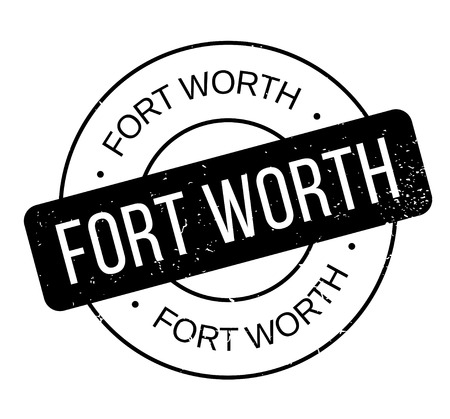 Fort Worth rubber stamp. Grunge design with dust scratches. Effects can be easily removed for a clean, crisp look. Color is easily changed. Foto de archivo - 95413314