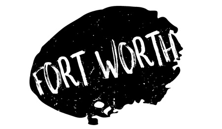 Fort Worth rubber stamp. Grunge design with dust scratches. Effects can be easily removed for a clean, crisp look. Color is easily changed. Foto de archivo - 95413323