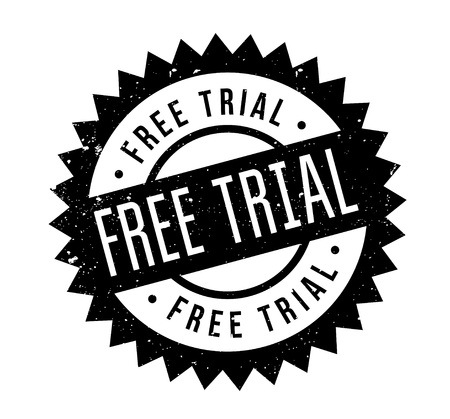 Free Trial rubber stamp. Grunge design with dust scratches. Effects can be easily removed for a clean, crisp look. Color is easily changed. Vektorové ilustrace