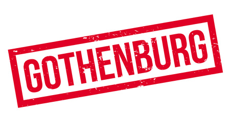 Gothenburg rubber stamp. Grunge design with dust scratches. Effects can be easily removed for a clean, crisp look. Color is easily changed. Illustration