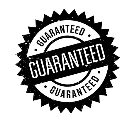 Guaranteed rubber stamp. Grunge design with dust scratches. Effects can be easily removed for a clean, crisp look. Color is easily changed.