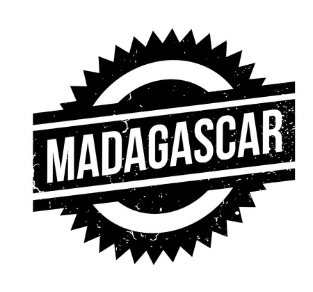 Madagascar rubber stamp. Grunge design with dust scratches. Effects can be easily removed for a clean, crisp look. Color is easily changed. 일러스트
