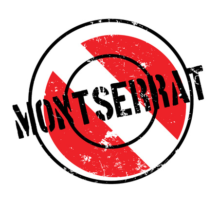 Montserrat rubber stamp. Grunge design with dust scratches. Effects can be easily removed for a clean, crisp look. Color is easily changed. Illustration