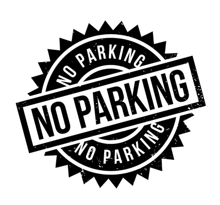 No Parking rubber stamp. Grunge design with dust scratches. Effects can be easily removed for a clean, crisp look. Color is easily changed. Stock Illustratie