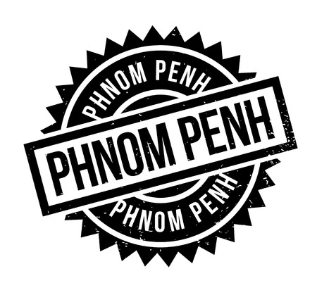 Phnom Penh rubber stamp. Grunge design with dust scratches. Effects can be easily removed for a clean, crisp look. Color is easily changed.