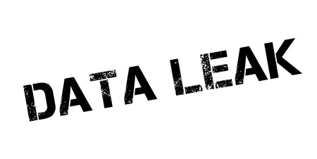 Data Leak rubber stamp. Grunge design with dust scratches. Effects can be easily removed for a clean, crisp look. Color is easily changed. Illusztráció