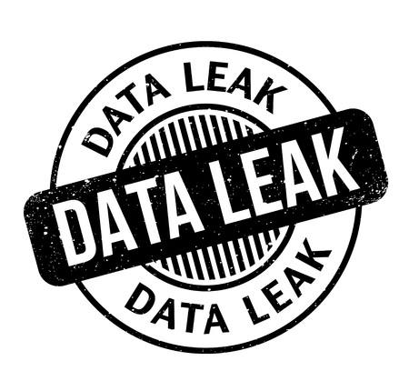 Data Leak rubber stamp. Grunge design with dust scratches. Effects can be easily removed for a clean, crisp look. Color is easily changed. Illustration