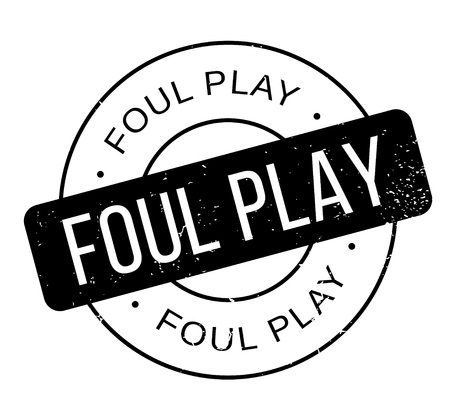 Foul Play rubber stamp. Grunge design with dust scratches. Effects can be easily removed for a clean, crisp look. Color is easily changed.