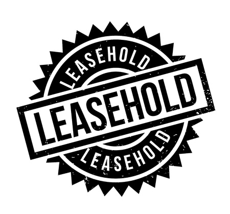 Leasehold rubber stamp. Grunge design with dust scratches. Effects can be easily removed for a clean, crisp look. Color is easily changed.