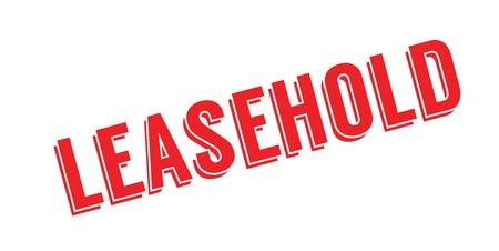 Leasehold rubber stamp.