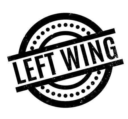 Left Wing rubber stamp. Illustration