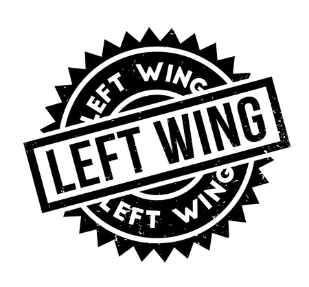 Left Wing rubber stamp. Grunge design with dust scratches. Effects can be easily removed for a clean, crisp look. Color is easily changed. Illustration