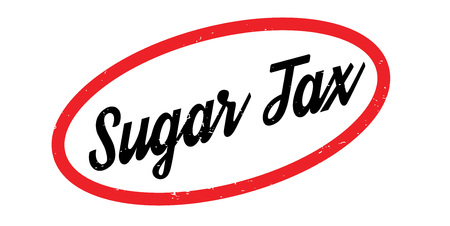 Sugar Tax rubber stamp. Grunge design with dust scratches. Effects can be easily removed for a clean, crisp look. Color is easily changed.