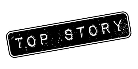 Top Story rubber stamp. Grunge design with dust scratches. Effects can be easily removed for a clean, crisp look. Color is easily changed.