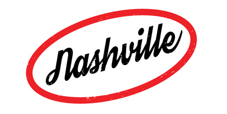 Nashville rubber stamp. Grunge design with dust scratches. Effects can be easily removed for a clean, crisp look. Color is easily changed.