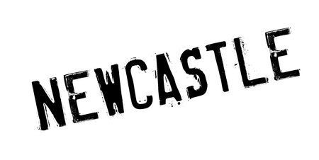 Newcastle rubber stamp. Grunge design with dust scratches. Effects can be easily removed for a clean, crisp look. Color is easily changed. Illustration