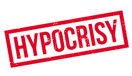 Hypocrisy rubber stamp. Grunge design with dust scratches. Effects can be easily removed for a clean, crisp look. Color is easily changed. Stock Vector - 95481412