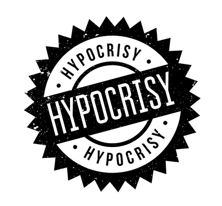 Hypocrisy rubber stamp. Grunge design with dust scratches. Effects can be easily removed for a clean, crisp look. Color is easily changed. Stock Vector - 95481416