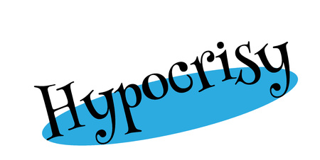Hypocrisy rubber stamp. Grunge design with dust scratches. Effects can be easily removed for a clean, crisp look. Color is easily changed.