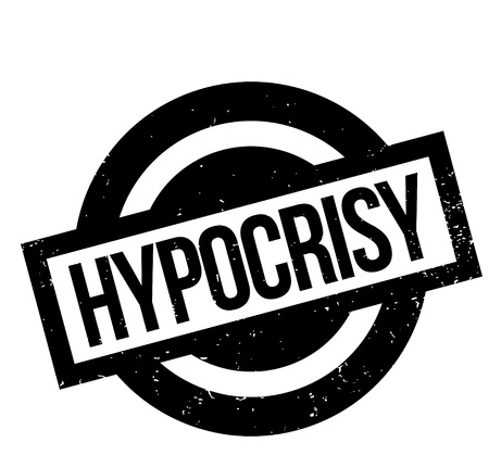 Hypocrisy rubber stamp. Grunge design with dust scratches. Effects can be easily removed for a clean, crisp look. Color is easily changed. Stock Vector - 95481875