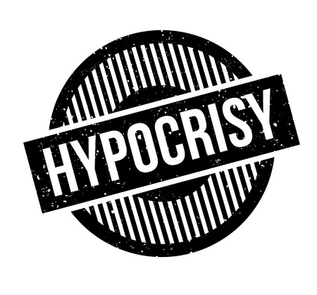 Hypocrisy rubber stamp. Grunge design with dust scratches. Effects can be easily removed for a clean, crisp look. Color is easily changed. Stock Vector - 95483870