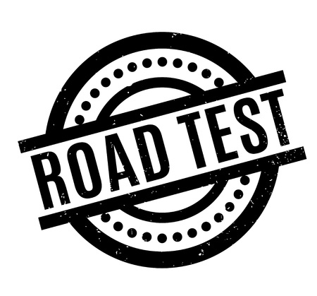 Road Test rubber stamp. Grunge design with dust scratches. Effects can be easily removed for a clean, crisp look. Color is easily changed. Çizim