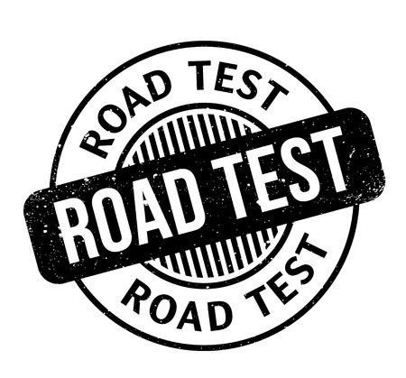 Road Test rubber stamp. Grunge design with dust scratches. Effects can be easily removed for a clean, crisp look. Color is easily changed. Vettoriali