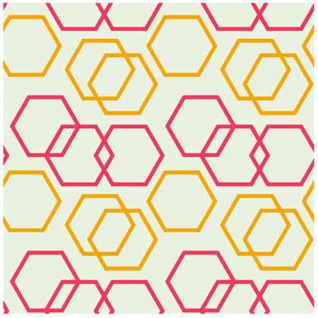 Geometric hexagon uneven seamless pattern. Design for print, fabric, textile. Seamless wallpaper