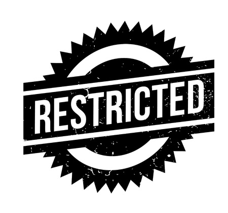 Restricted rubber stamp. Grunge design with dust scratches. Effects can be easily removed for a clean, crisp look. Color is easily changed. Illusztráció
