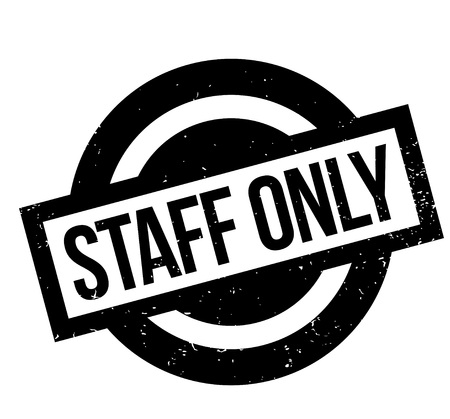 Staff Only rubber stamp. Grunge design with dust scratches. Effects can be easily removed for a clean, crisp look. Color is easily changed. Vettoriali