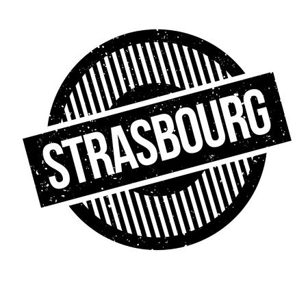 Strasbourg rubber stamp. Grunge design with dust scratches. Effects can be easily removed for a clean, crisp look. Color is easily changed.