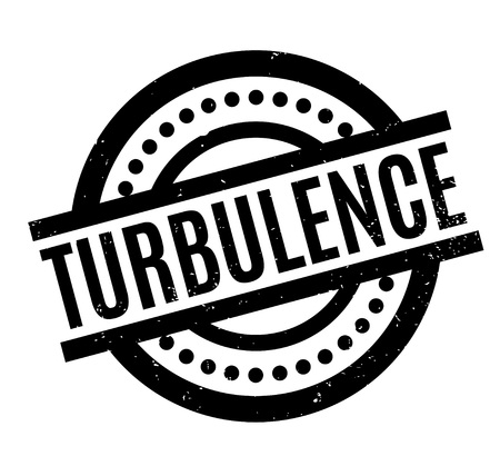 Turbulence rubber stamp. Grunge design with dust scratches. Effects can be easily removed for a clean, crisp look. Color is easily changed. Vetores