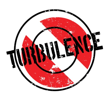 Turbulence rubber stamp. Grunge design with dust scratches. Effects can be easily removed for a clean, crisp look. Color is easily changed. 免版税图像 - 95583919