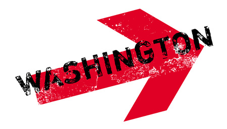Washington rubber stamp. Grunge design with dust scratches. Effects can be easily removed for a clean, crisp look. Color is easily changed. Illustration